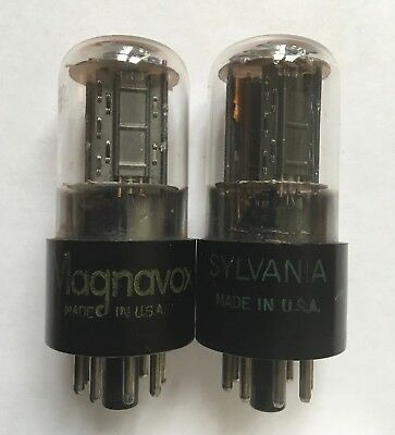 Matched Pair Sylvania 6SN7GT Staggered Plate Tubes