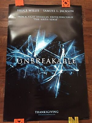 UNBREAKABLE Advance (2000) Original One Sheet Double Sided Movie Theater Poster.