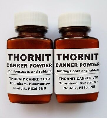 2 x 20g THORNIT CANKER POWDER - EAR MITES TREATMENT FOR DOGS, CATS & RABBITS