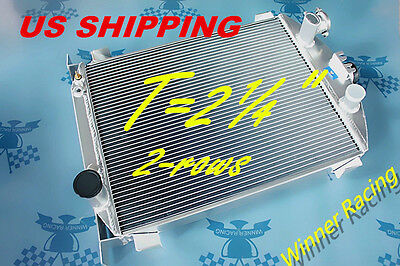 """T=2¼"""" 1""""Chopped Aluminum Radiator for Ford CAR W/CHEVY 350 V8 1930-31;Shell 1932"""