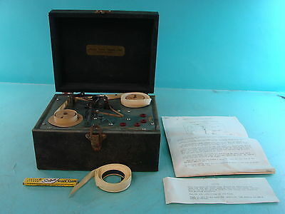 Vtg Automatic Code Machine Telegraph Device American Railway Telegraphy School