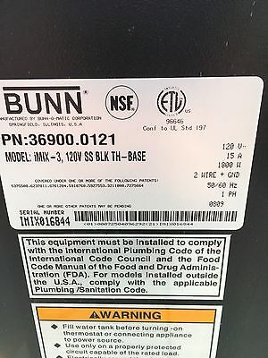 Bunn Model IMix-3 Three Flavor Hot Beverage Machine