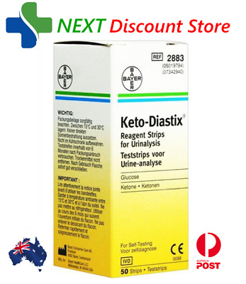 2 X Keto-Diastix Reagent 50 Test Strips  X2 for Urinalysis / Ketone  for TWO