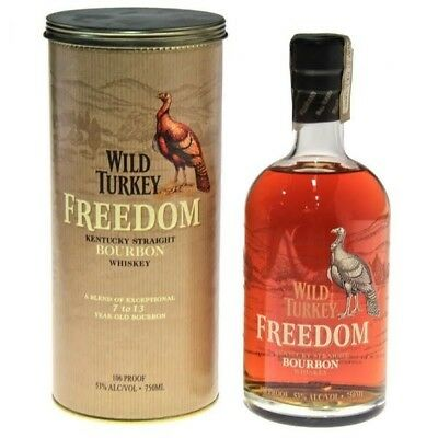 Wild Turkey Freedom Kentucky Bourbon Whiskey 750ml