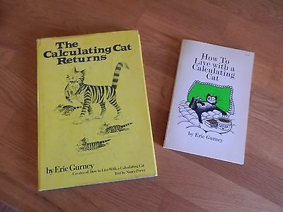 How to live with a Calculating Cat & Calculating Cat Returns - Lot of 2 books
