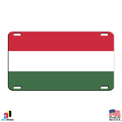 HUNGARY COUNTRY FLAG EMBOSSED METAL LICENSE PLATE AUTO CAR TAG NEW #828