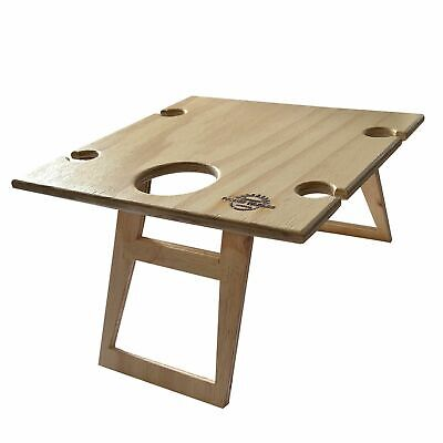 NEW SUMMER PICNIC TABLE Wine Bottle Wood Pine Timber Folding 40 x 40cm SQUARE