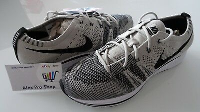 97d89a502530 New Mens Size 6.5 Nike Flyknit Trainer 2017 Pale Grey Black White AH8396-001