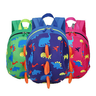 Baby Kid Toddler Cute Dinosaur Walking Safety Harness Backpack Reins Strap Bag