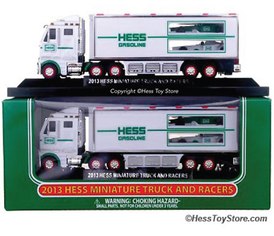 Hess Toy Truck - 2013 Hess Miniature 18 Wheeler and Racecars  FREE SHIPPING!