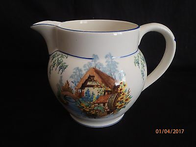 "~Vintage Royal Falcon Ware ""the Old Mill"" Large Milk Jug - Vgc~"