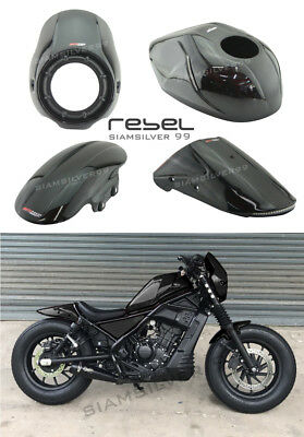 HONDA REBEL CMX 300 500 2017 SHORT FRONT FENDER FAIRING COVER TIRE CUSTOM CAFE