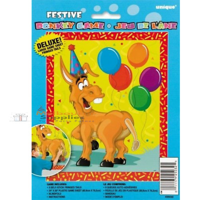 Fun Children Party Games Pin the Tail on the Donkey Game for 8 kids birthday