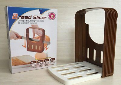 New Bread Slicer Loaf Toast Cutter Mold Maker Slicing Cutting Guide Kitchen