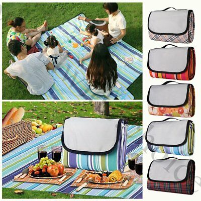 Large Waterproof Picnic Blanket Folding Rug Travel Outdoor Beach Camping Mat 200