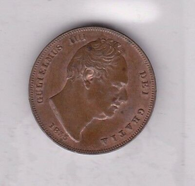1835 William Iiii Copper Farthing In Near Extremely Fine Condition