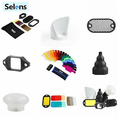 Selens Universal Magnetic Flash Modifier Gels Filters Bounce Diffuser Band Snoot