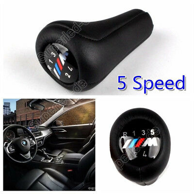 BMW Gear Stick Shift Knob Leather 5-Speed M Sport 3 SERIES E36 E46 E91 E92 NEW