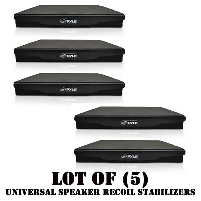 Lot of (5) Pyle PSI06 Acoustic Sound Isolation Recoil Stabilizers Speaker Riser