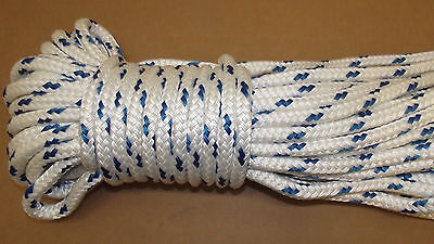 """NEW 7/16"""" x 100' Double Braid Polyester Sail/Halyard Line, Jibsheets, Boat Rope"""