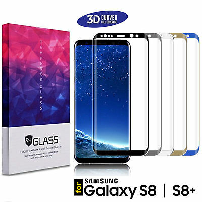 3D Tempered Glass Screen Protector Case Cover For Samsung Galaxy S8 ,S9 plus