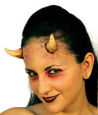 Small Ladies Devil Horns - Two Stick On Application Gruesome Halloween Horror