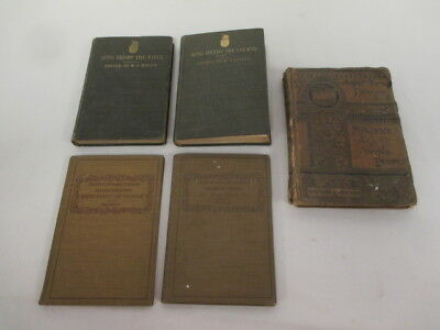 Lot of 5 Vintage/Antique Books; Stamped for Russian Relief, Ration Book