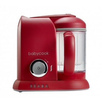 Beaba Babycook4 in 1 Baby Food Processor Steam Cook Blend - RED