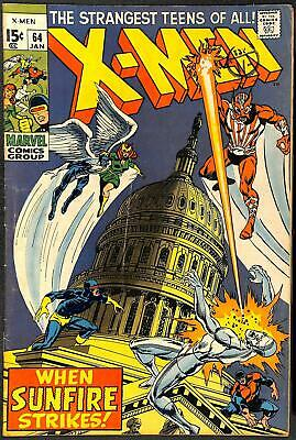 X-Men #64 1st App Sunfire VG