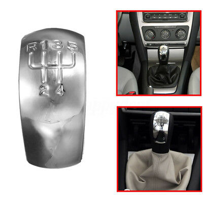 Chrome 5 Speed Gear Knob Shift Cap Cover For Skoda Mk Skoda Octavia 1z0798001