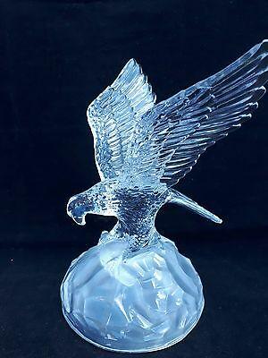 Vintage Stunning Royal Crystal Rock Glass Eagle Figurine RCR ref 7d