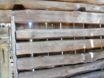 "19cReclaimed Oak Barn Beams 21 ft length, 8""x 9"" avg. 2-sided sawn, 8 hand-hewn"
