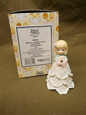 Precious Moments MONTHLY FLOWER GIRL MAY HAWTHORN Mini Bell