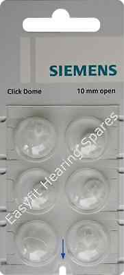 Siemens / Signia Click Open Domes - Pack 6