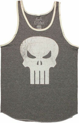 """Punisher """"Skull Logo"""" Tank Top Tee Official Adult Mens Grey New S,M,L,XL"""
