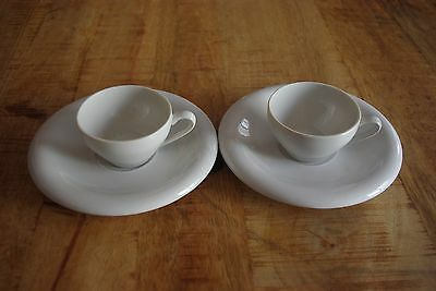 "Lote De 2 Tazas De Cafe + Platos ""It Santander"" / Lot Of 2 Cups ""It Santander"""