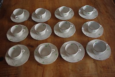 "Lote De 12 Tazas De Cafe + Platos ""Emma"" / Lot Of 12 Cups ""Emma"""