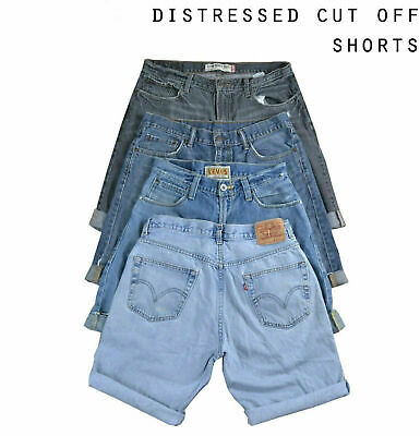 Mens Distressed Vintage Levis Denim Shorts - Levi Strauss - Various Sizes