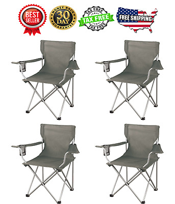 Ozark Trail Regular Arm Chairs, Set of 4 Folding Camping Seat New Free Shipping