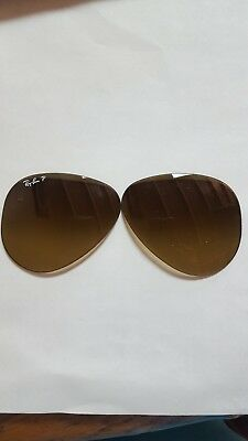 *New Authentic* Ray-Ban RB 8307 58MM Brown Gradfient Replacement Lenses