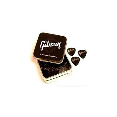 Gibson Guitar Pick Tin Standard Pack of 50 Thin