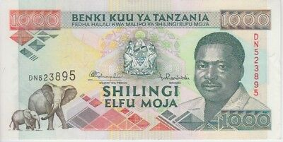 TANZANIA  P. 27b 1000 1.000 1,000 SHILLINGS SIG.10 EXTREMELY FINE PLUS