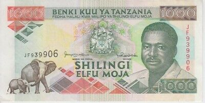 TANZANIA  P. 27c 1000 1.000 1,000 SHILLINGS EXTREMELY FINE PLUS