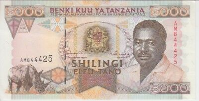 Tanzania Banknote  P. 28 5000 5.000 5,000 Shillings Extremely Fine Plus