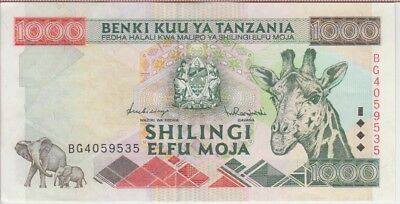 Tanzania Banknote  P# 37  1000 1.000 1,000 Shillings 1997 Extremely Fine Plus