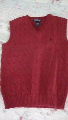 Ralph Lauren Polo Red Sweater Vest Size S