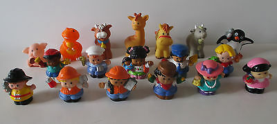 Lot de 18 little people 11 personnages et 7 animaux fisher price