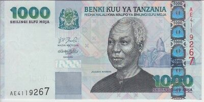 TANZANIA BANKNOTE P36a 1000 1.000 1,000 SHILLINGS EXTRA FINE-ALMOST UNCIRCULATED