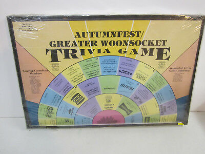 autumnfest Woonsocket rhode island trivia board game 1970's rare unused