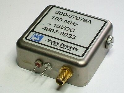 WENZEL crystal quartz oscillator 100 mhz time frequency standard 500-07078A